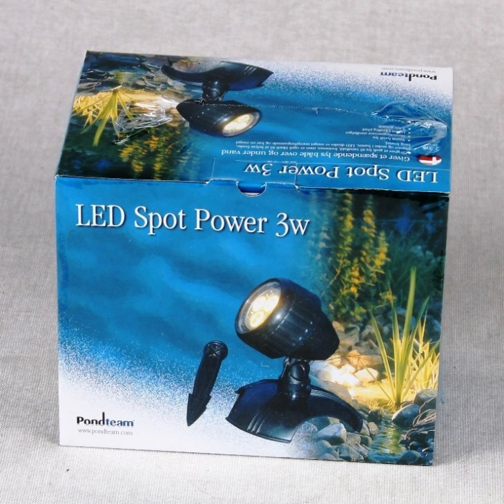 LED Spot Power 1 x 3 W inkl. lyssensor