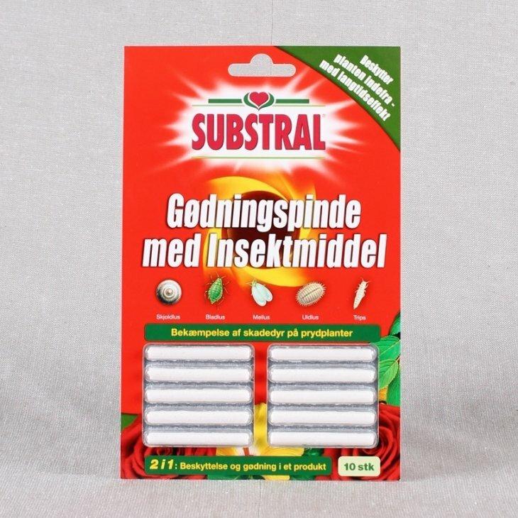 Gødningspinde med insektmiddel fra Substral 10 stk./pk