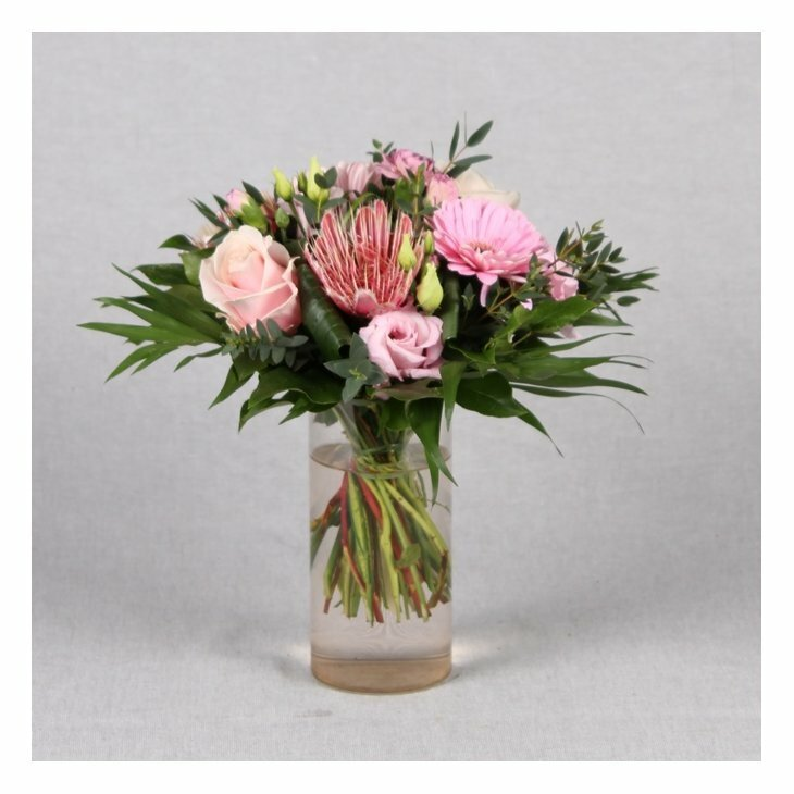 Buket, Rokoko i rosa nuancer