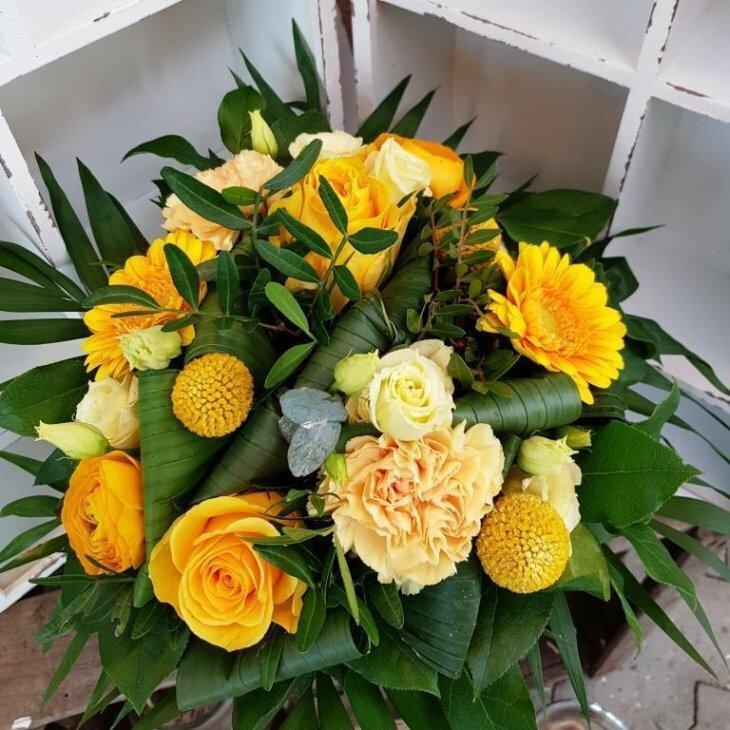 Buket, Rokoko i gule farver