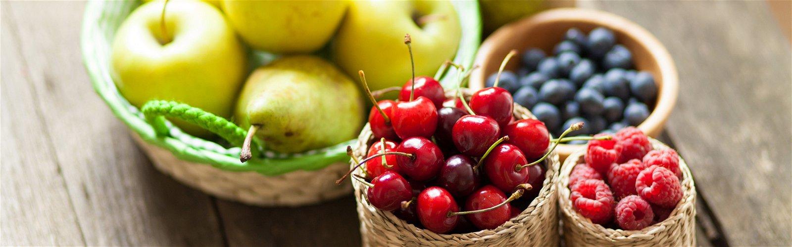 Dansk frugt i små kurve