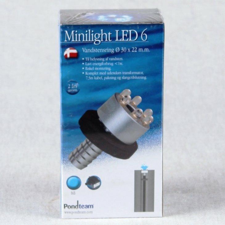 LED 6 vandstensring Blå med trafo