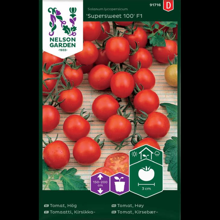 Tomat, Kirsebær-, Supersweet 100