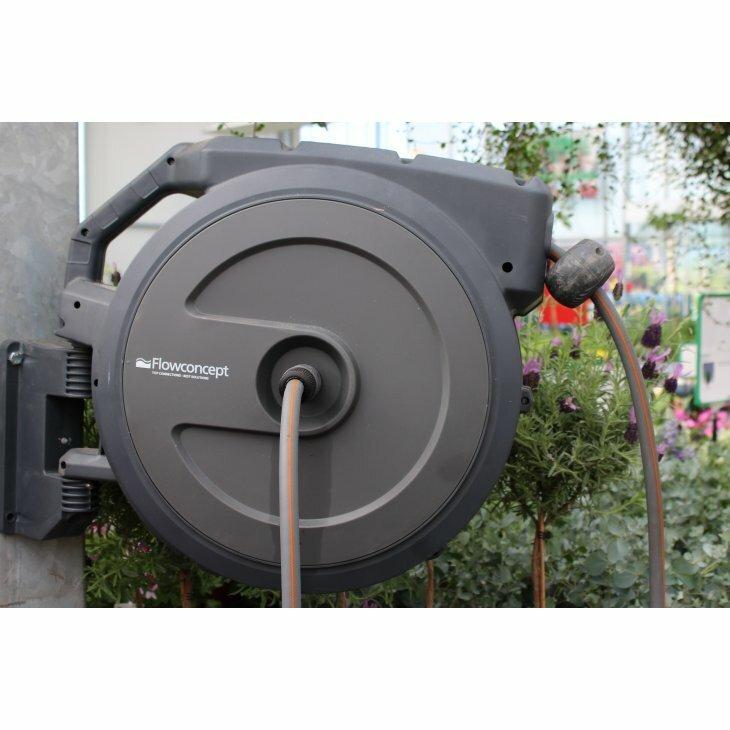 Flowconcept Slangeopruller m 40 m, automatisk oprul EG 720404