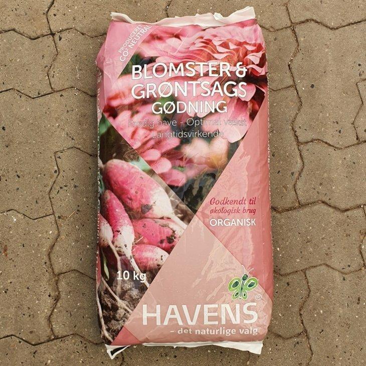 Blomster og Grønsags gødning 10 Kg.