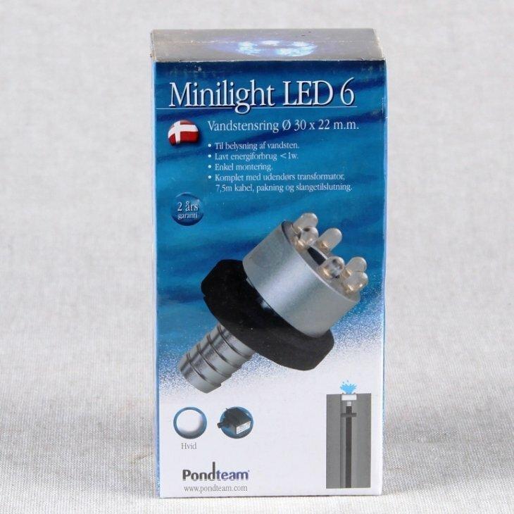 LED 6 vandstensring Hvid med trafo