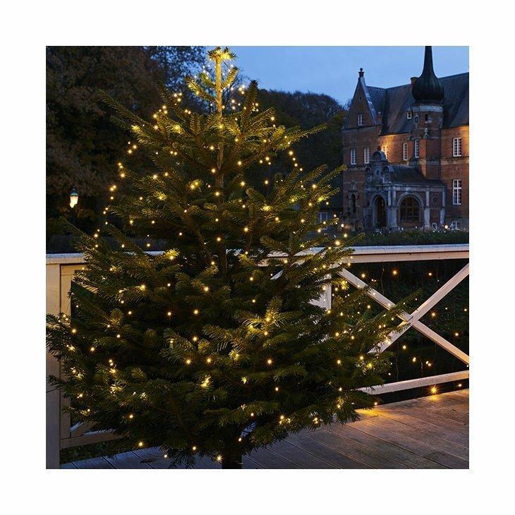 Sirius Knirke juletræskæde med 13 strenge á 1,5 m med transformer til ude og inde