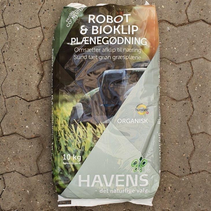 Robot og Bioklip plænegødning 10kg.