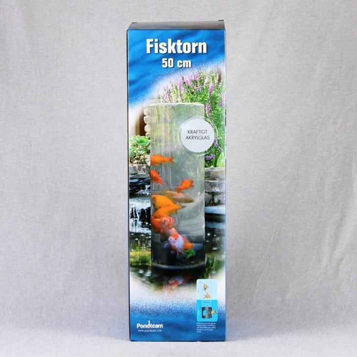 Guldfiskerør / Fisketårn 50 cm plus sokkel 20 cm