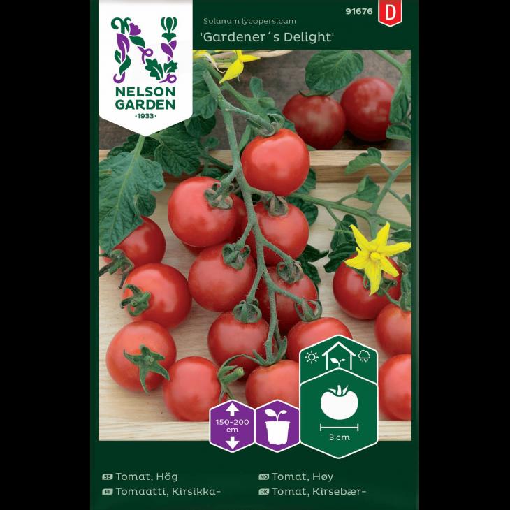 Tomat, Kirsebær-, Gardener´s Delight