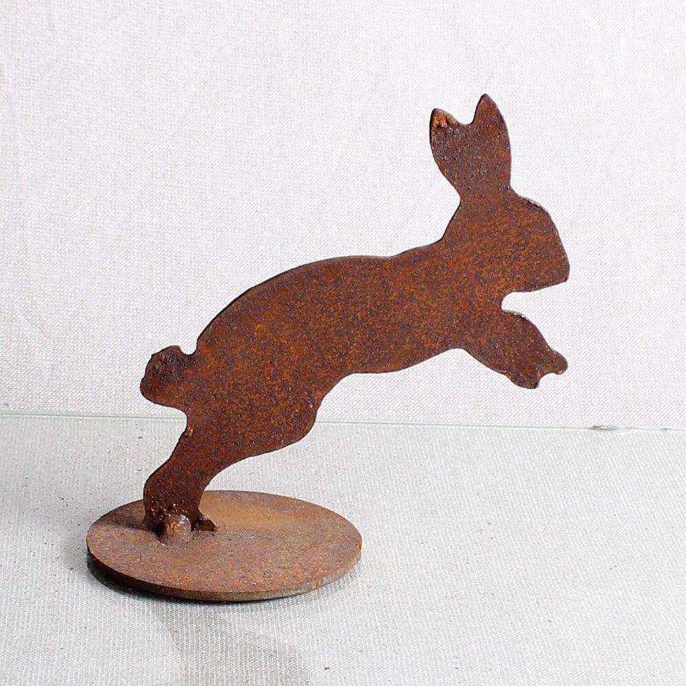 Kanin i spring, 13 cm på jernplade