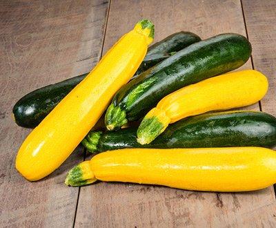 Gule og grønne squash
