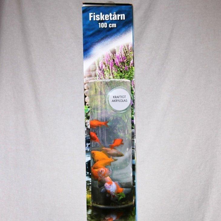 Guldfiskerør / Fisketårn 100 cm plus sokkel 20 cm