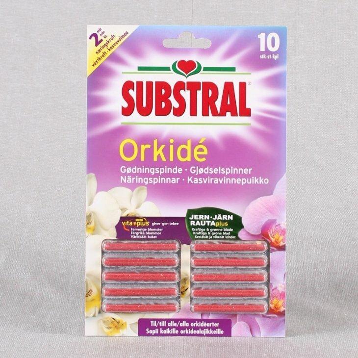 Gødningspinde til orkidéer fra Substral 10 stk./pk