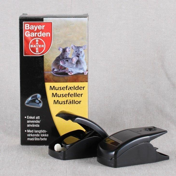 Musefælde i plastik fra Bayer Garden 2 stk i pakke.