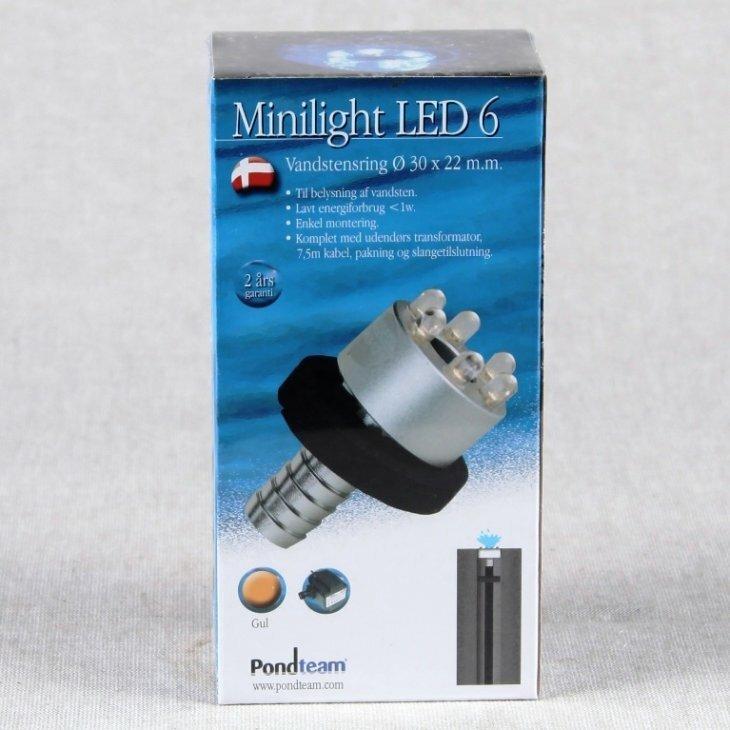LED 6 vandstensring Gul med trafo