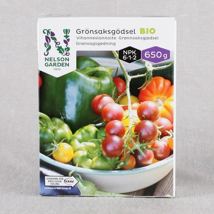 Grønsagsgødning BIO fra Nelson Garden 650 gr.
