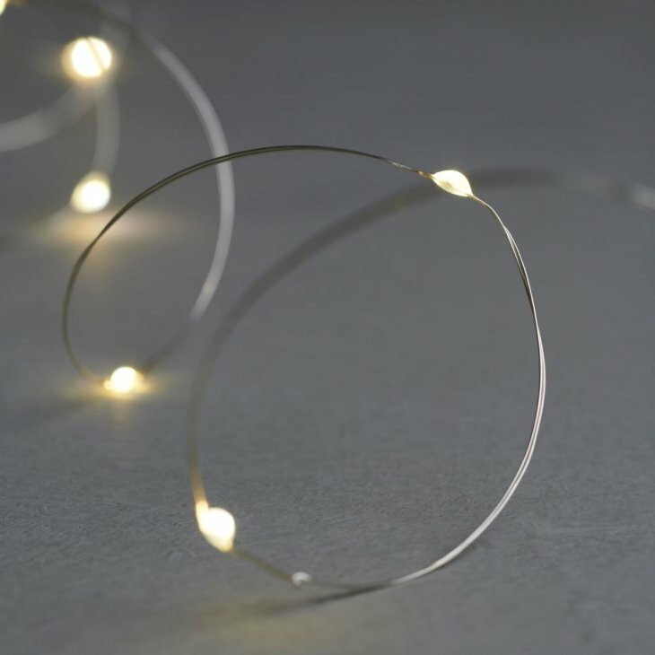 Sirius Knirke klar/sølv med 20 LED