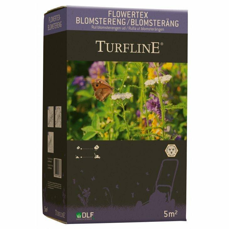 Turfline Natur Blomstereng og Plænegræs på stof (Flower Tex) til 5 m2