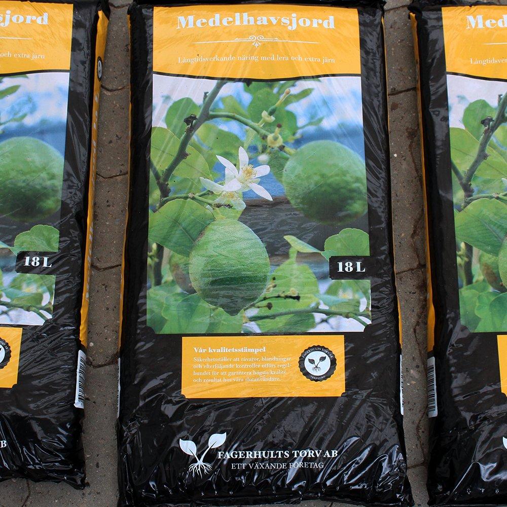 Middelhavs- og citrusjord fra Fagerhult 18 L
