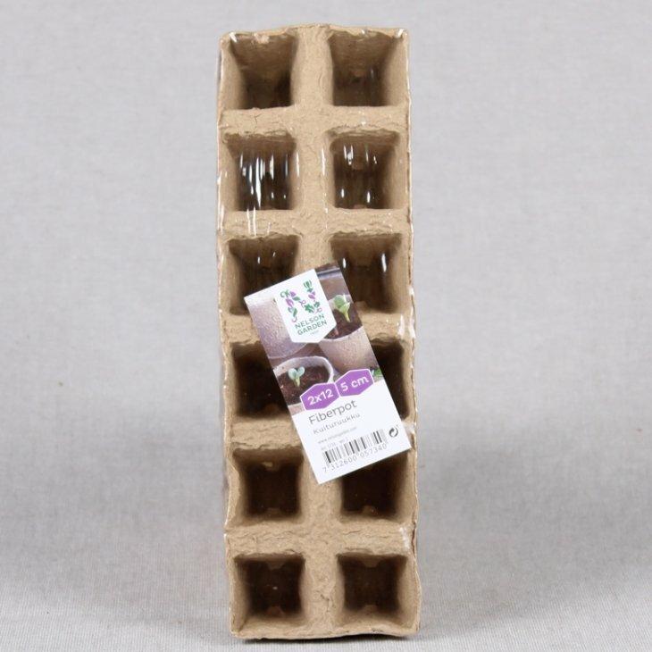Fiberpotte 2x12 celler 5 cm