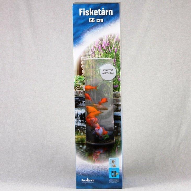 Guldfiskerør / Fisketårn 66 cm plus sokkel 20 cm