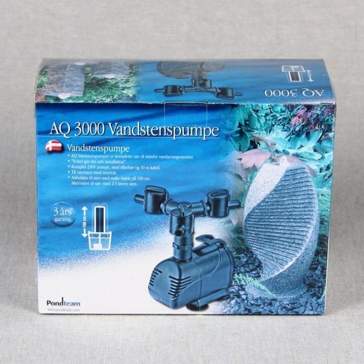 Vandstenspumpe AQ 3000 3 vej - 230V