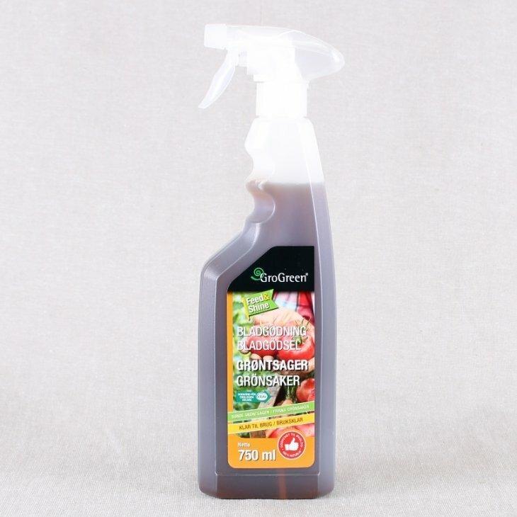 GroGreen Bladgødning til grønsager Klar-til-Brug 750 ml