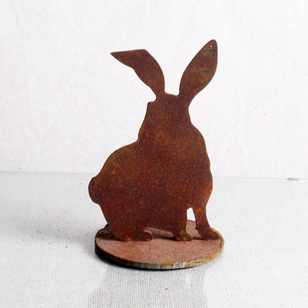 Kanin med front, 13 cm på jernplade